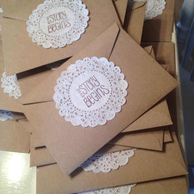 Diy Wedding Invitation Envelopes I Like These But With The Journey Begins On Outside