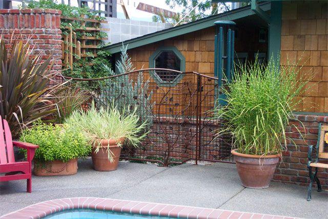 Custom garden pool fencing