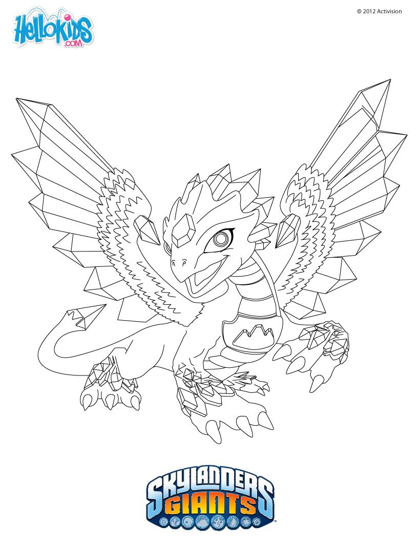 Free coloring pages for skylanders - Flashwing Coloring Page All Skylanders Giants Coloring Pages Including This Flashwing Coloring Page Are Free Enjoy The Wonderful World Of Coloring