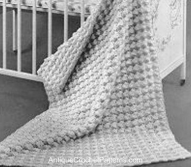 Easy Crochet Baby Blanket Pattern Free Vintage Crochet Pattern ...
