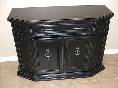 Painted, Glazed & Distressed | Black entry table ...