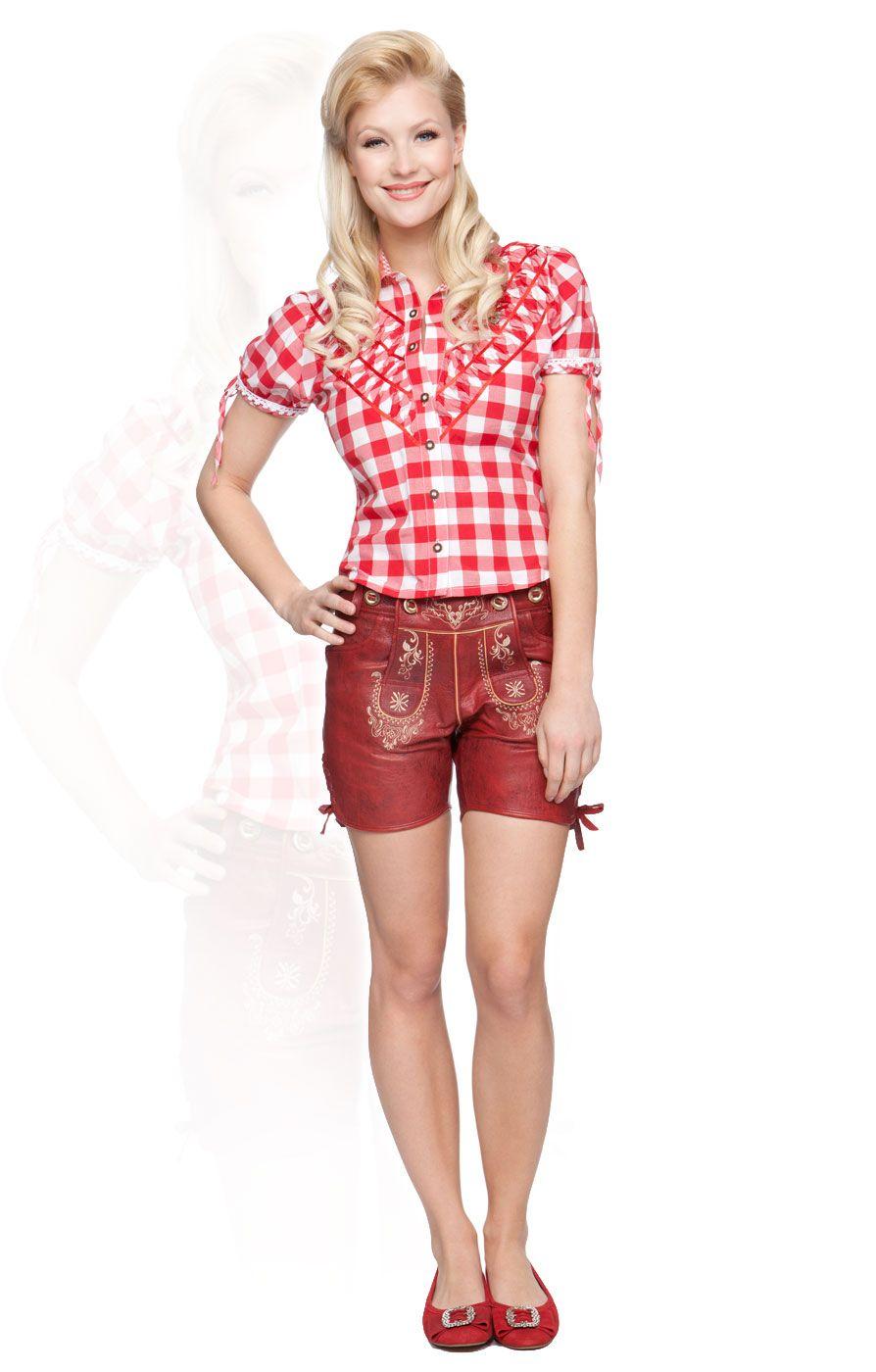 e704577c684e1b Stockerpoint Trachten Lederhose Jane red Ledershort kurz | bavarian ...