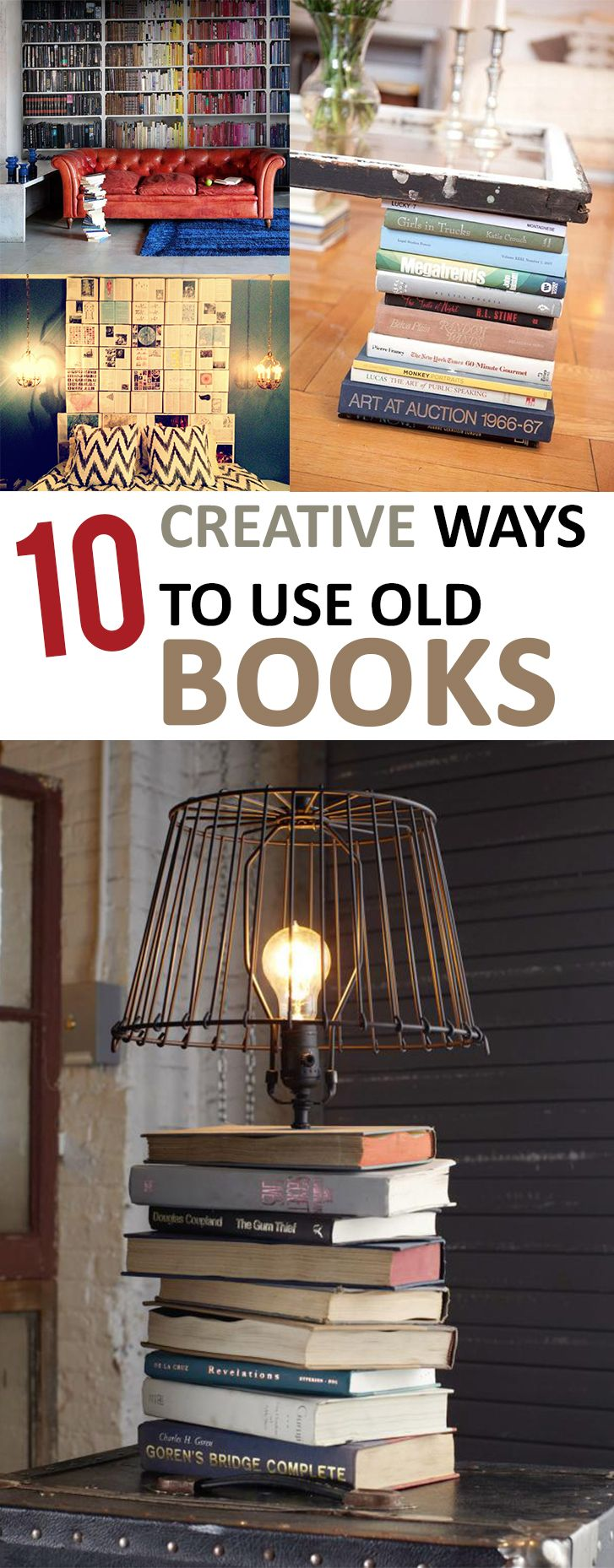 10 Creative Ways to Use Old Books -