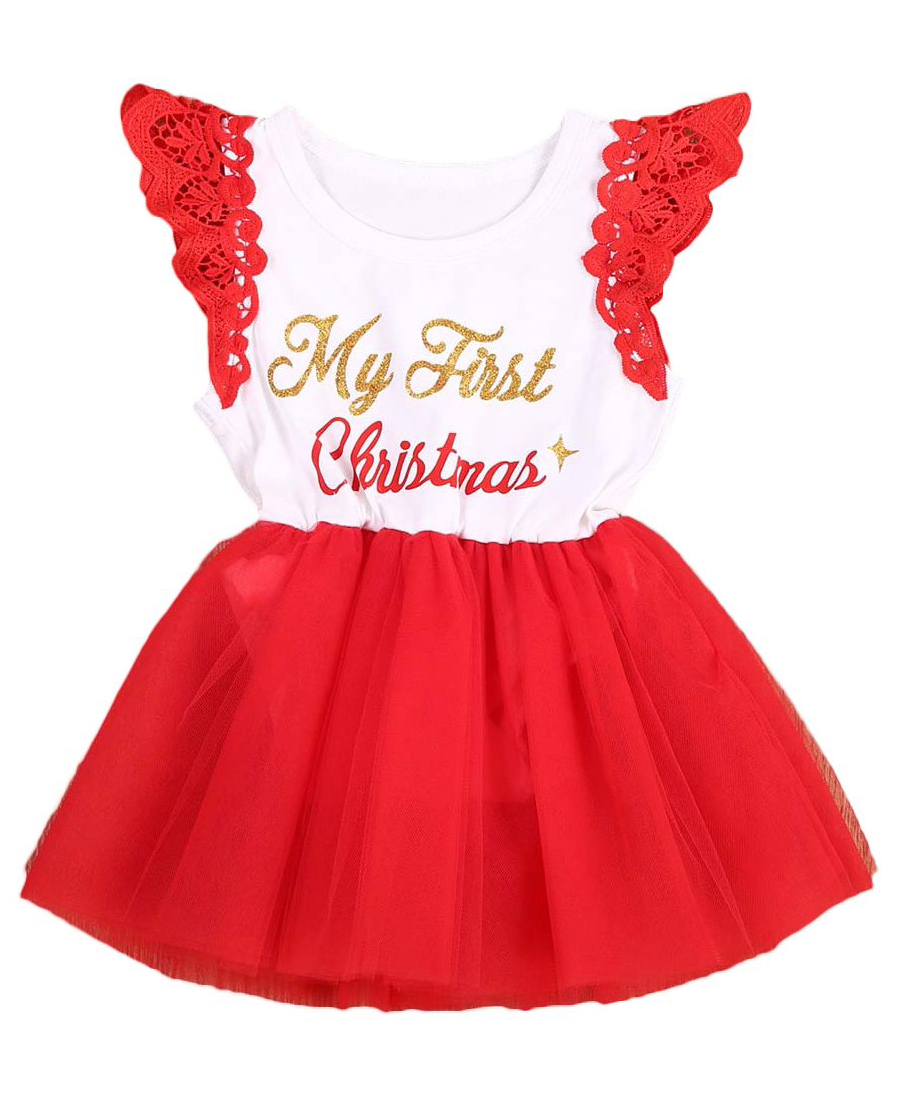 c20222bbfce5 SALE 45% OFF + FREE SHIPPING! SHOP Our First Christmas Dress for Baby Girls