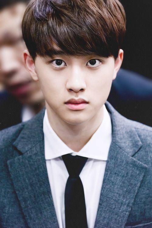 """Exo - D.O """"D.O hates when his girl fans are always talking about how big his eyes are or how much his white part shows soo much. So stap!"""""""