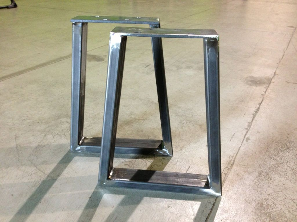 Patio tableRugged steel bench supports are being made today at Modern Legs  . Outdoor Table Legs For Sale. Home Design Ideas