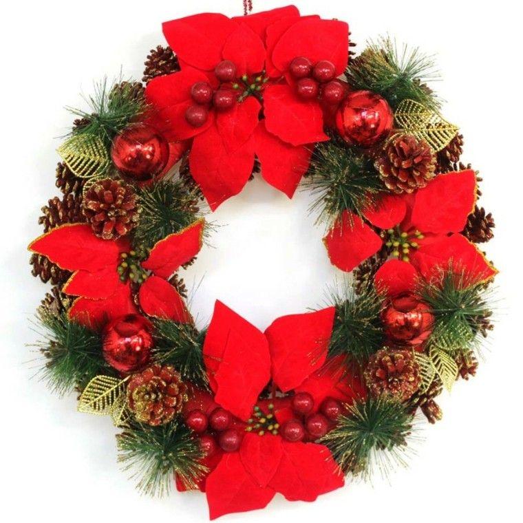 coronas y guirnaldas de navidad cincuenta modelos - Guirnaldas De Navidad