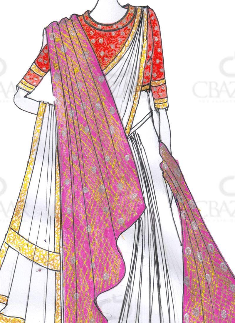 DIY Bajirao Mastani Inspired White Saree With Shaw