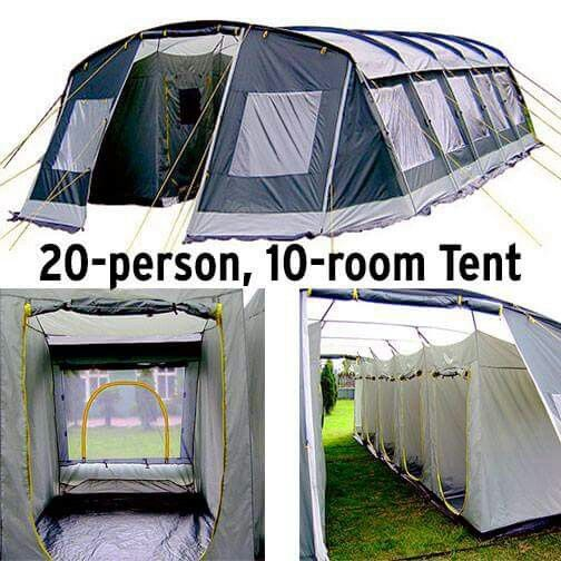 more photos c47aa cc283 Ten room tent for 20 people | interesting | Tent camping, 20 ...