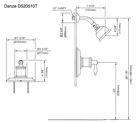 Rough in height for shower valve fresh pressure balancing - Bathroom plumbing rough in dimensions ...