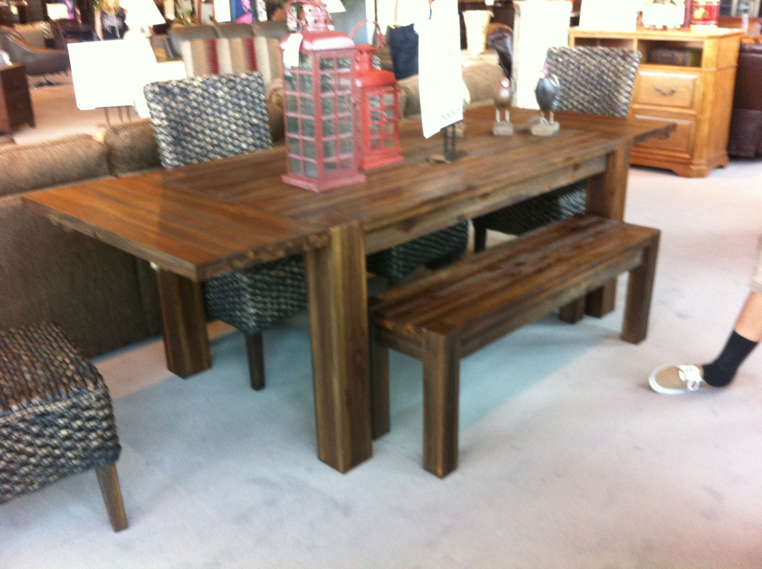 Rustic Wooden Table At Mor Furniture 499 Really Grainy And Veiny Totally My Kind Of