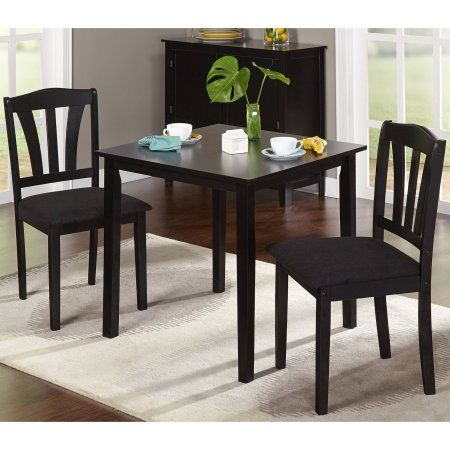 Metropolitan 3 Piece Dining Set Multiple Finishes Walmart Com Small Kitchen Table Sets Kitchen Table Settings Dining Room Sets