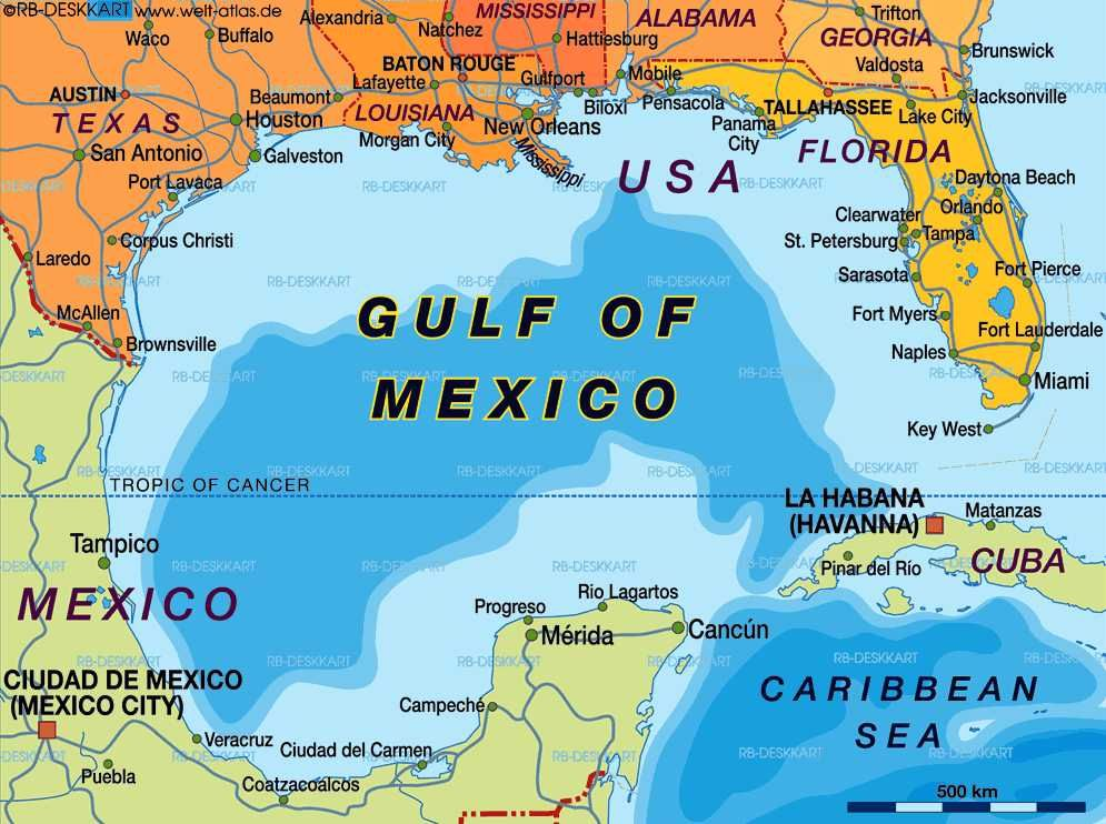 Where Is Gulf Of Mexico Located On A Map My Blog - Where is mexico