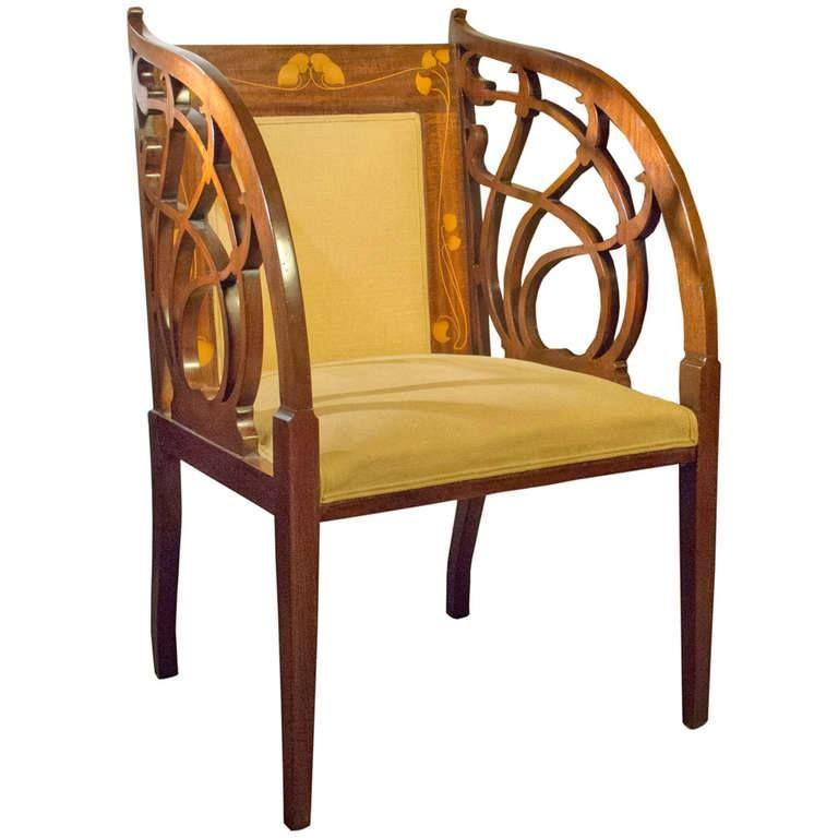 art nouveau fauteuil 1895 art nouveau mobilier. Black Bedroom Furniture Sets. Home Design Ideas