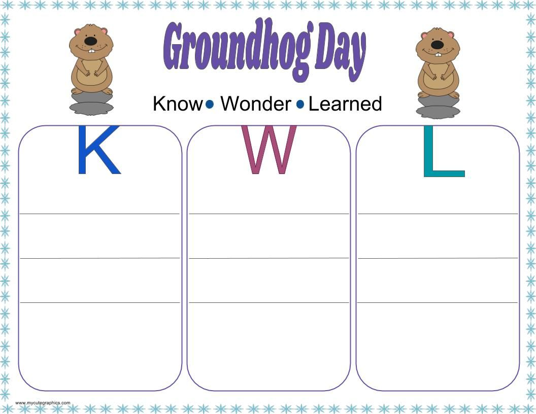Grounghog day graphic organizers graphic organizers venn groundhog day kwl chart groundhog day cause and effect chart groundhog day venn diagram pooptronica Image collections