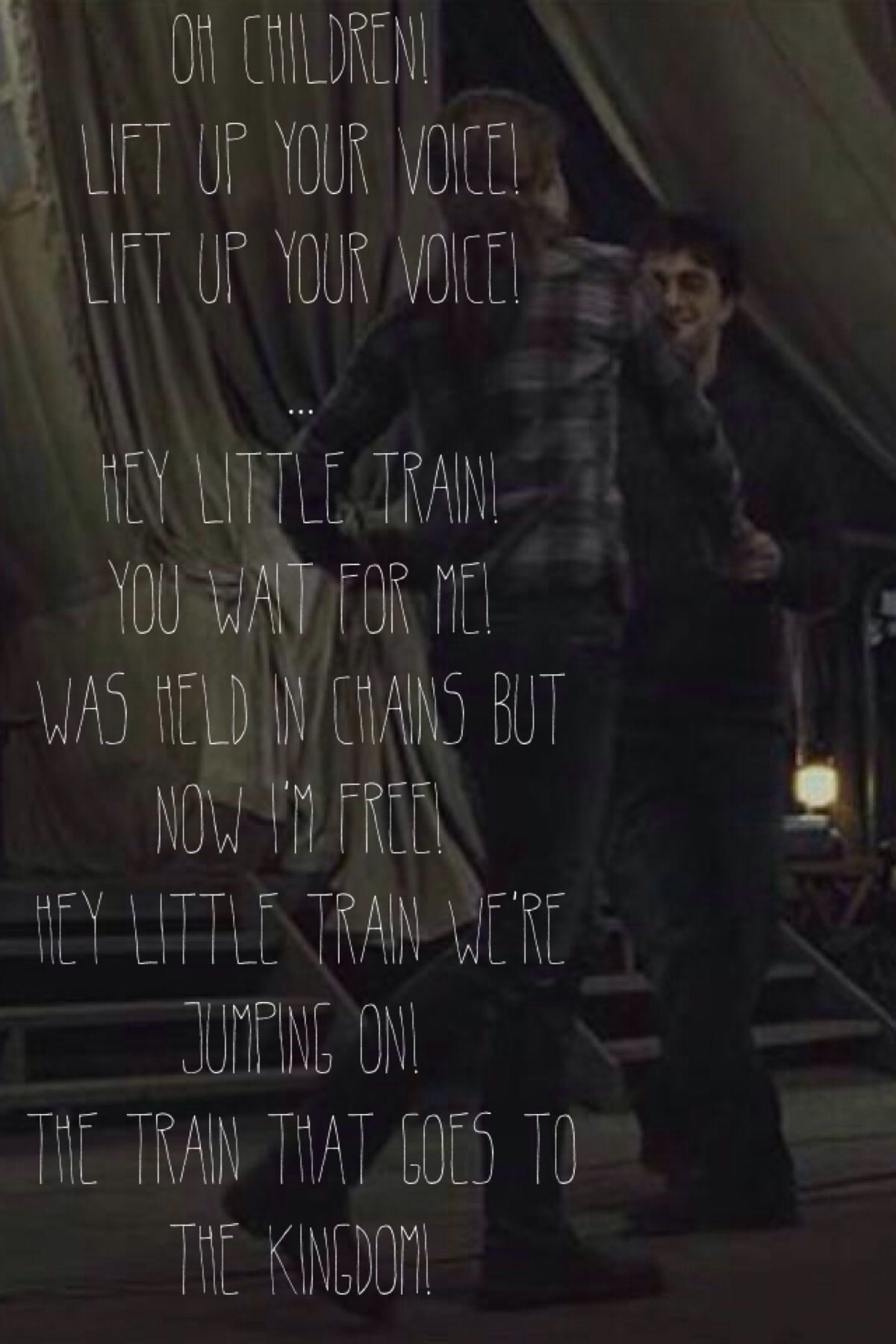 Forgive Us Now For What We Ve Done It Started Out As A Bit Of Fun Here Take These Before We Run Away O C Favorite Lyrics Harry Potter Scene Harry And