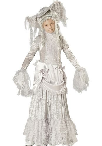 Ghostly Lady Girls Deluxe Costume- The Costume Land