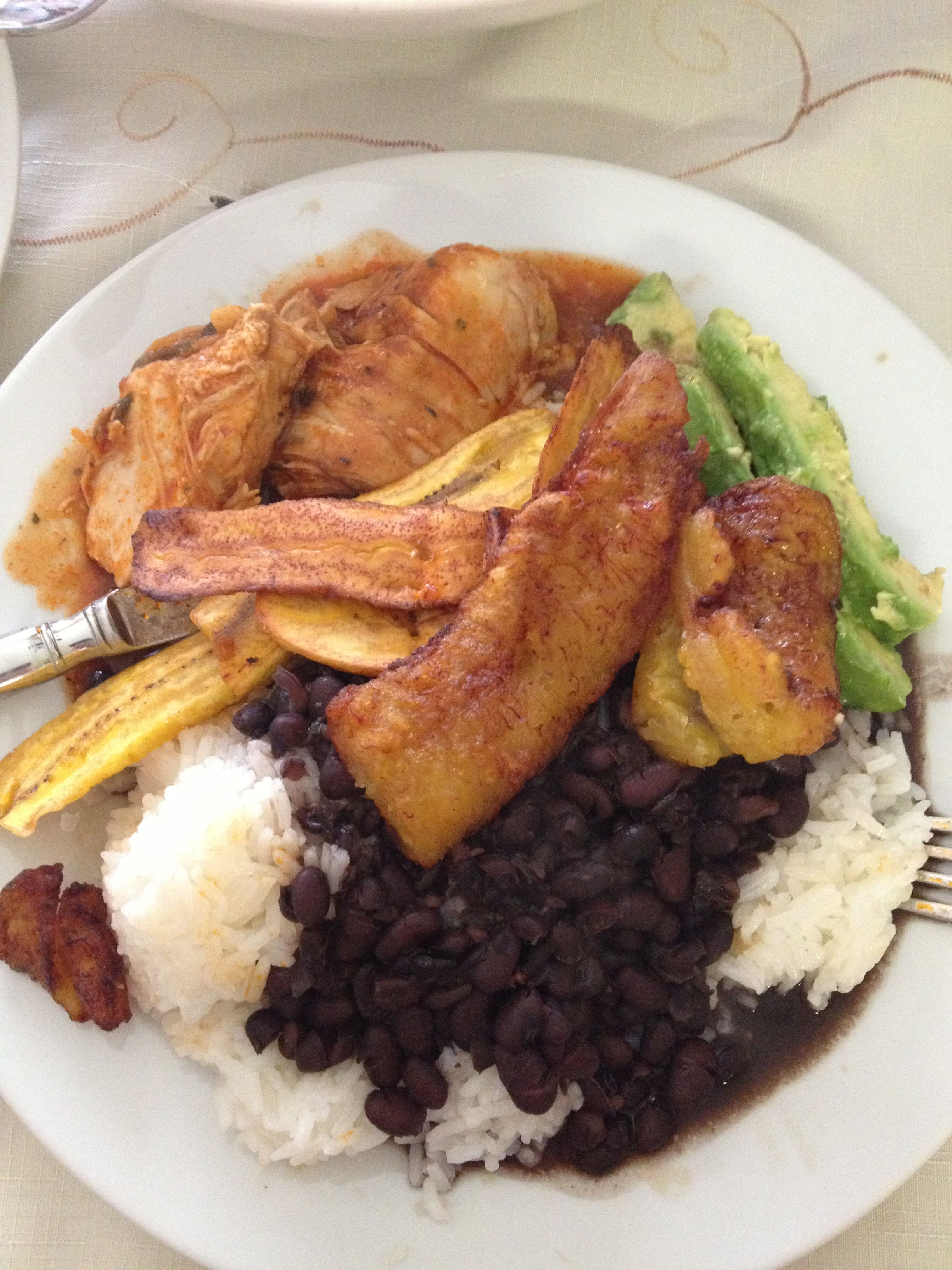 Dominican food close up delicious white rice beans fried sweet dominican food close up delicious white rice beans fried sweet plantains juicy seasoned chicken forumfinder Choice Image