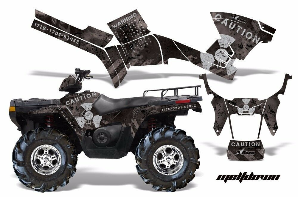 Ebay Advertisement Atv Graphics Kit Decal Sticker Wrap For Polaris Sportsman 500 800 05 10 Mdwn S K Graphic Kit Atv Polaris Atv