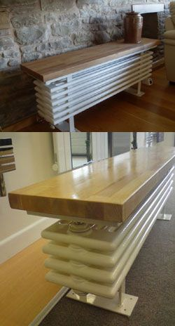 Bench Radiator For Kitchen To Be Hidden Under Dining Bench