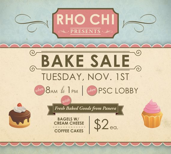 Bake Sale  Event Flyer Ideas    Bake Sale And Bake
