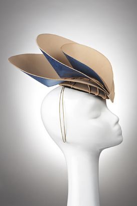 Side View - Leather Layered Teardrops