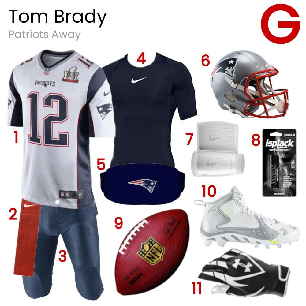 Tom Brady Patriots Away Game Gear Tom Brady Patriots Football Pants Tom Brady