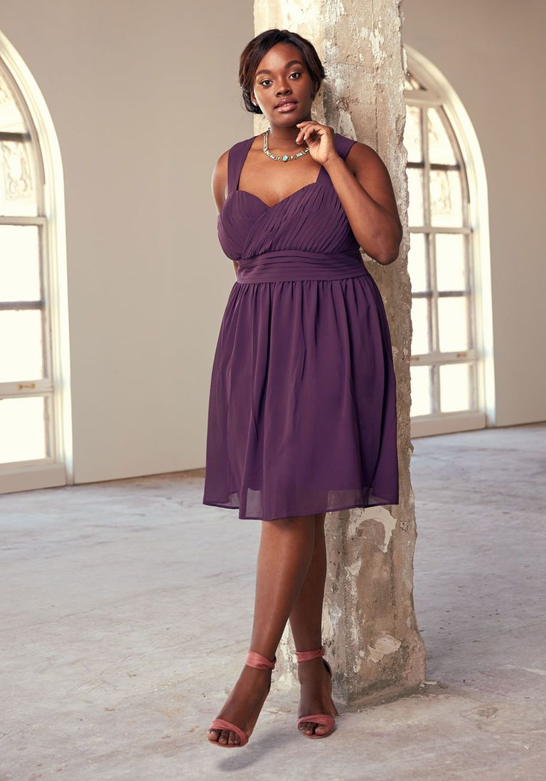 Blissful Vision A-Line Dress in Amethyst