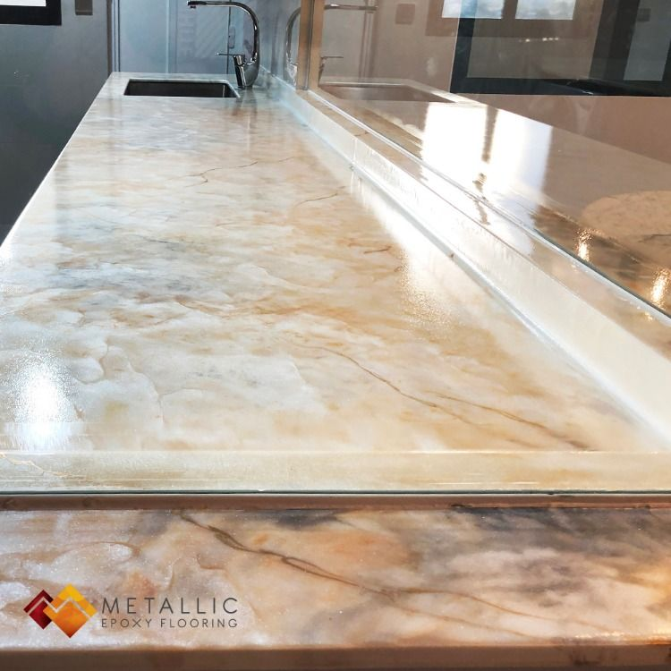 Gold Veins On A Beige Marble Mixed Base Give A New Look To Our