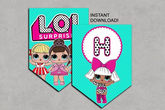 LOL Surprise Dolls Inspired Banner Printable Birthday DIY ...