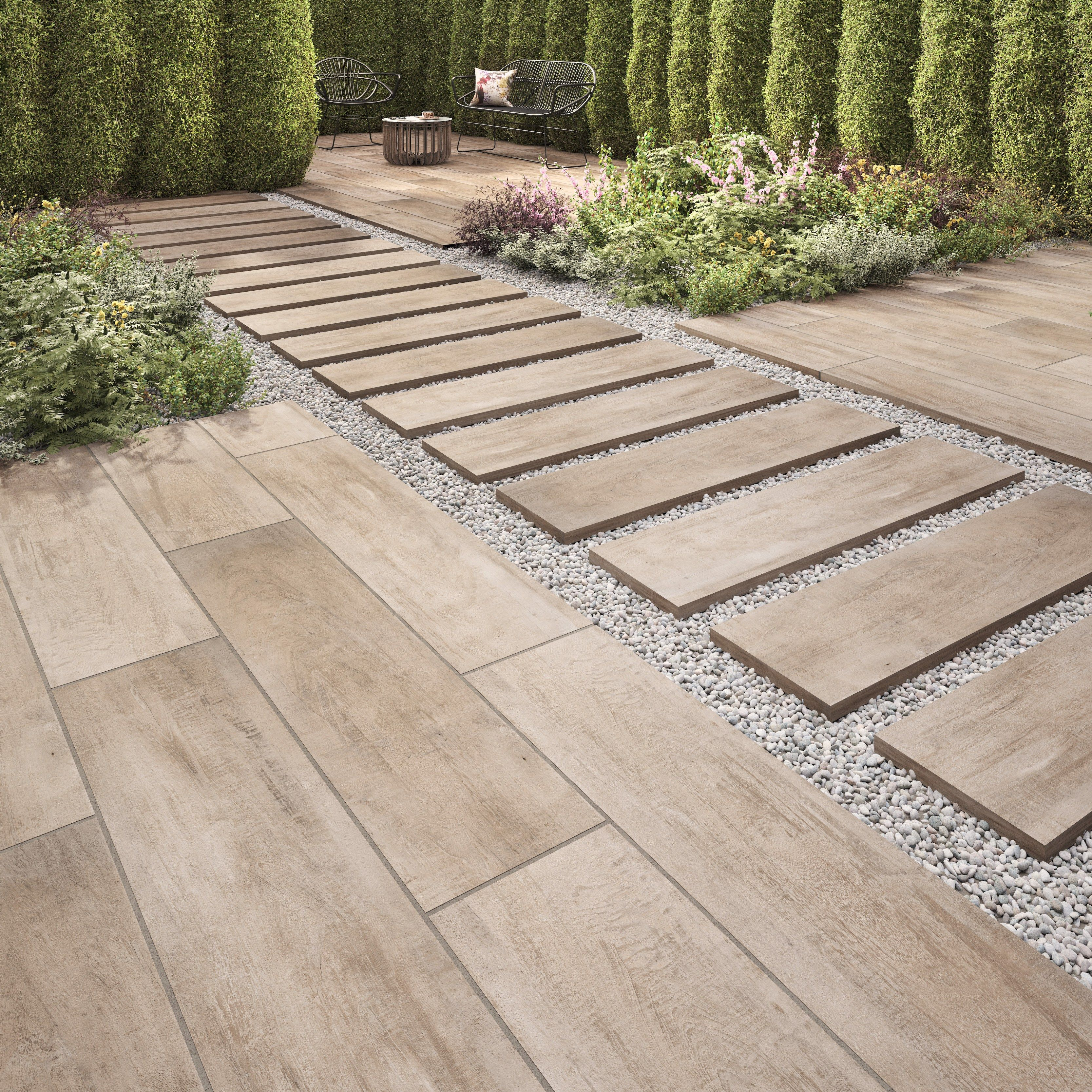lodge natural outdoor plank effect