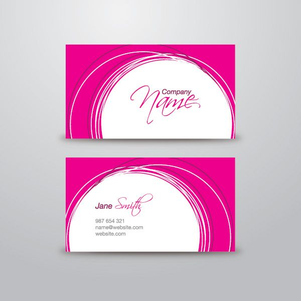 Pink business card vector graphic by dryicons banners pink business card vector graphic by dryicons wajeb Image collections