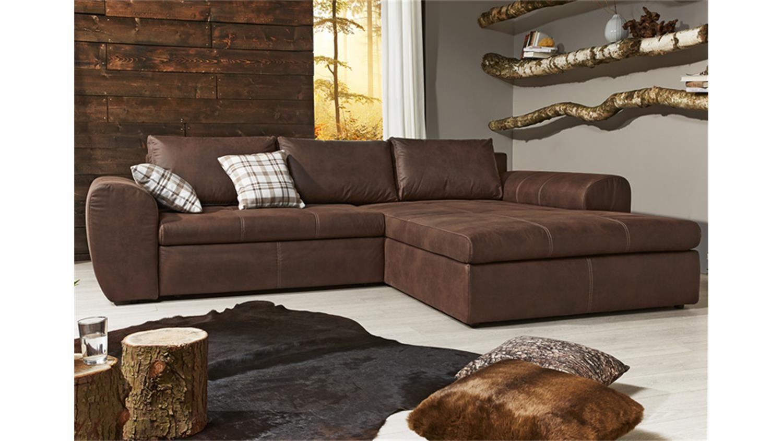 Ecksofa Wohnlandschaft Cascada Antik Braun Mit Bettfunktion Ecksofa Graue Couch Wohnzimmer Braunes Sofa