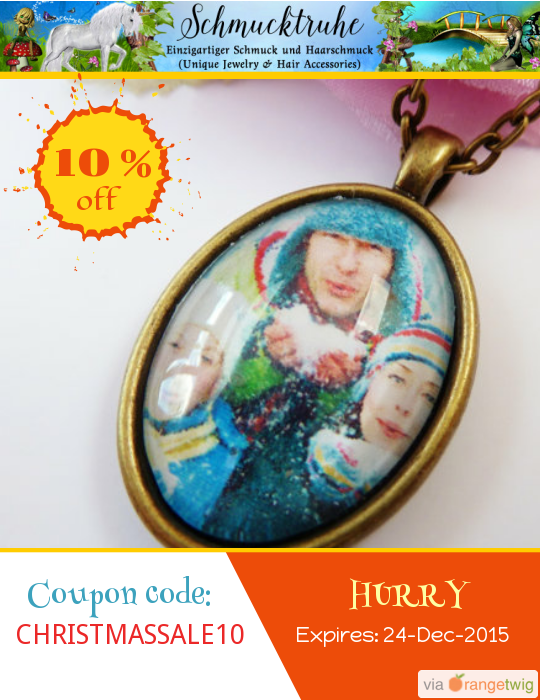 We are happy to announce 10% OFF our Entire Store. Coupon Code: CHRISTMASSALE10 Expiry: 24-Dec-2015 Click here to view all products:  Click here to avail coupon: https://orangetwig.com/shops/AABZS48/campaigns/AABn48M?cb=2015011&sn=Schmucktruhe&ch=pin&crid=AABn48a