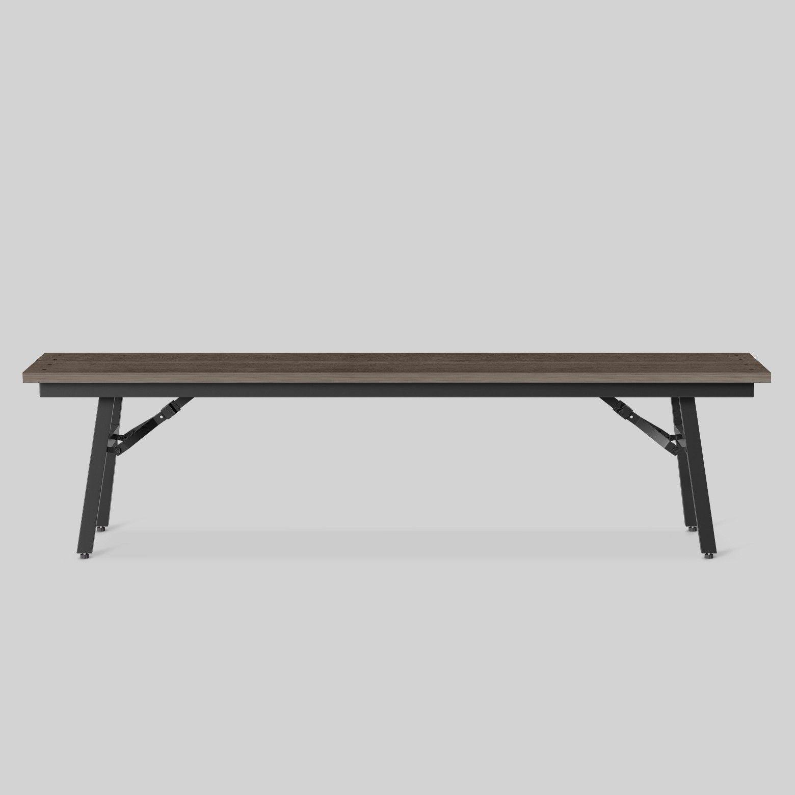 Mantega Faux Wood Folding Patio Bench