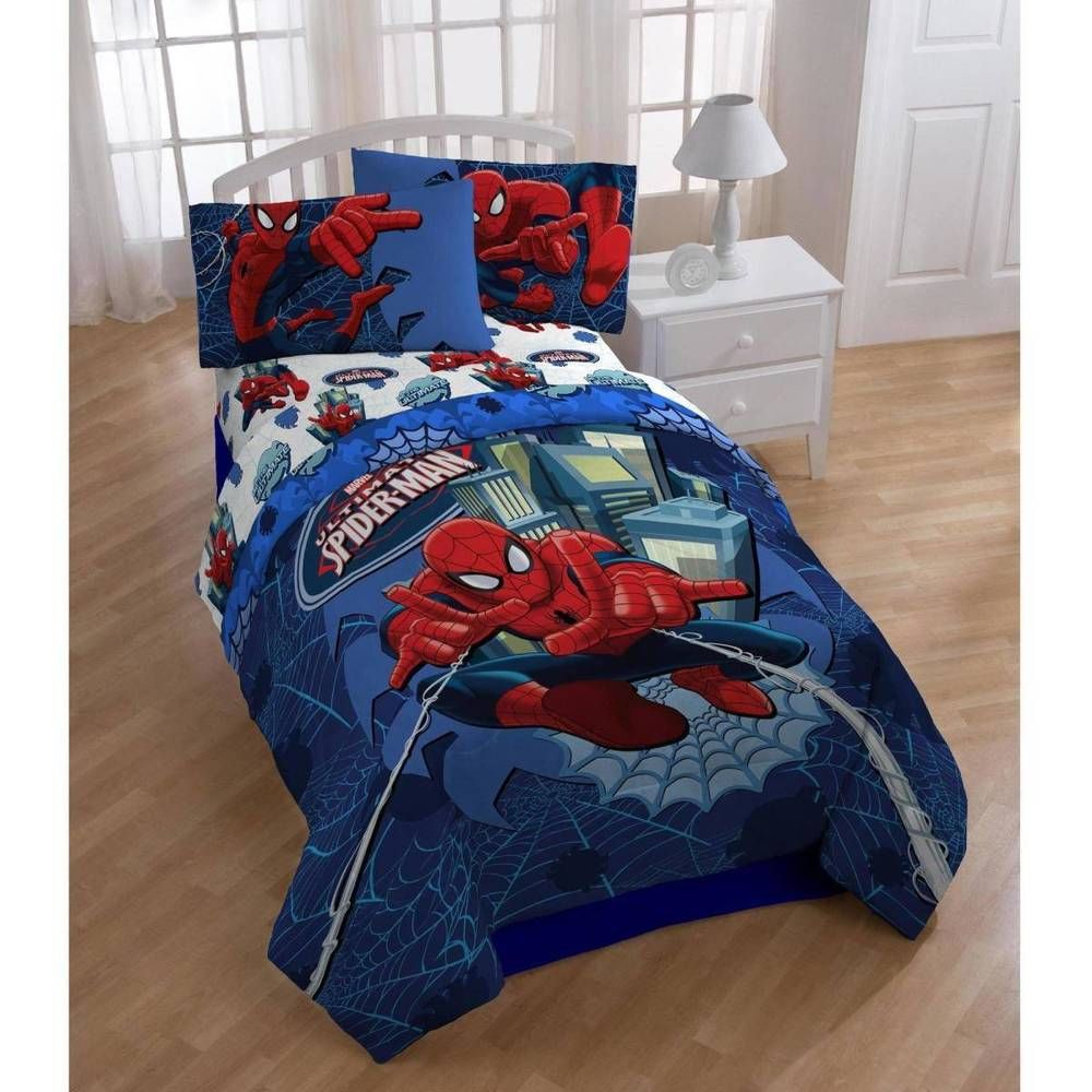 Spiderman bed set - Details About Spider Man Twin Full Comforter Set Gift For Kids Boys Top Quality Spiderman