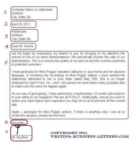 Proper Formal Business Letter Format – Formal Business Letter Format