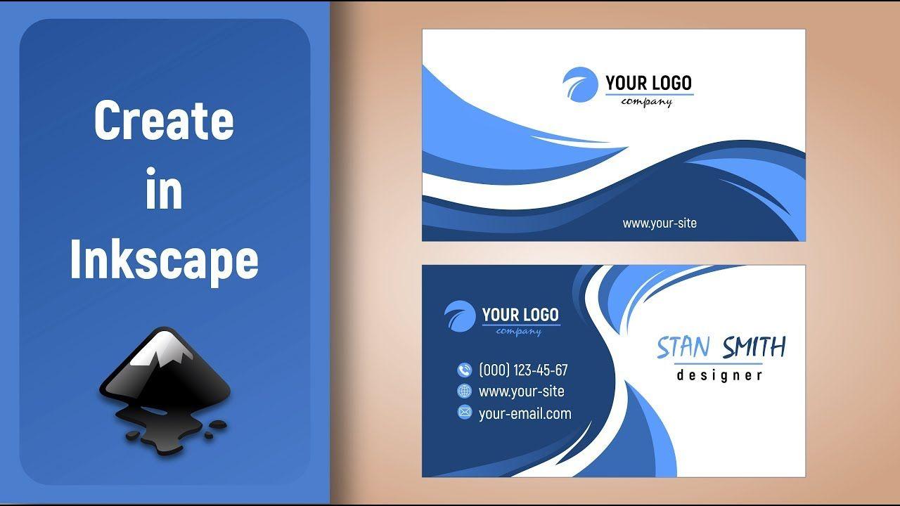 Inkscape Speed Art Design Business Card In 2020 Business Card Design Business Design Speed Art