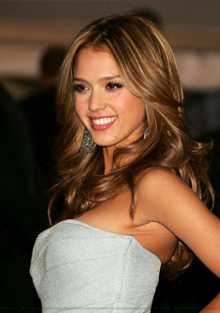 How To Get Jessica Alba Hair Color Of Caramel Highlights Hairstyle