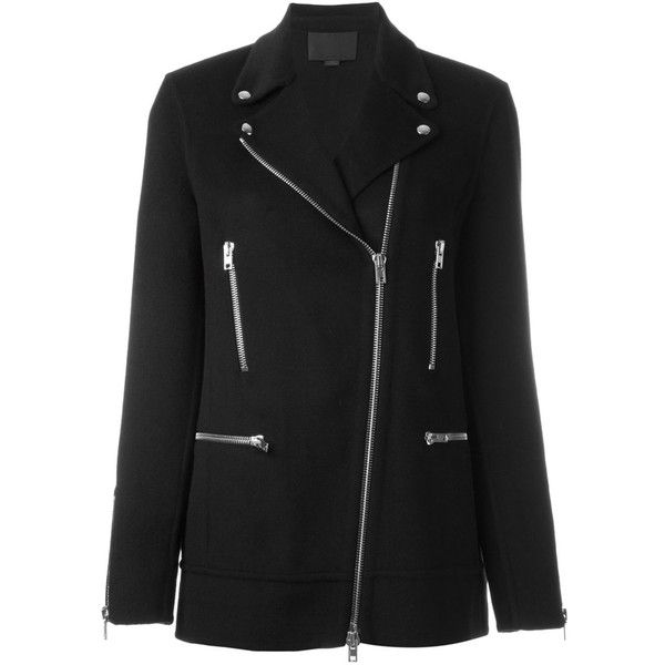 Alexander Wang asymmetric zip coat (4.995 BRL) ❤ liked on Polyvore featuring outerwear, coats, black, asymmetrical zip coat, asymmetrical zipper coat, alexander wang, long sleeve coat and alexander wang coat