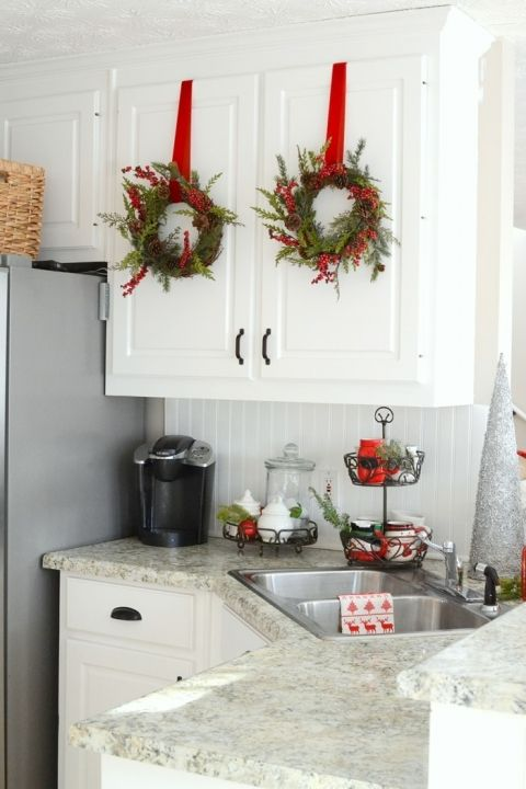 merry and bright christmas home tour christmas kitchen decor christmas kitchen on kitchen xmas decor id=81525
