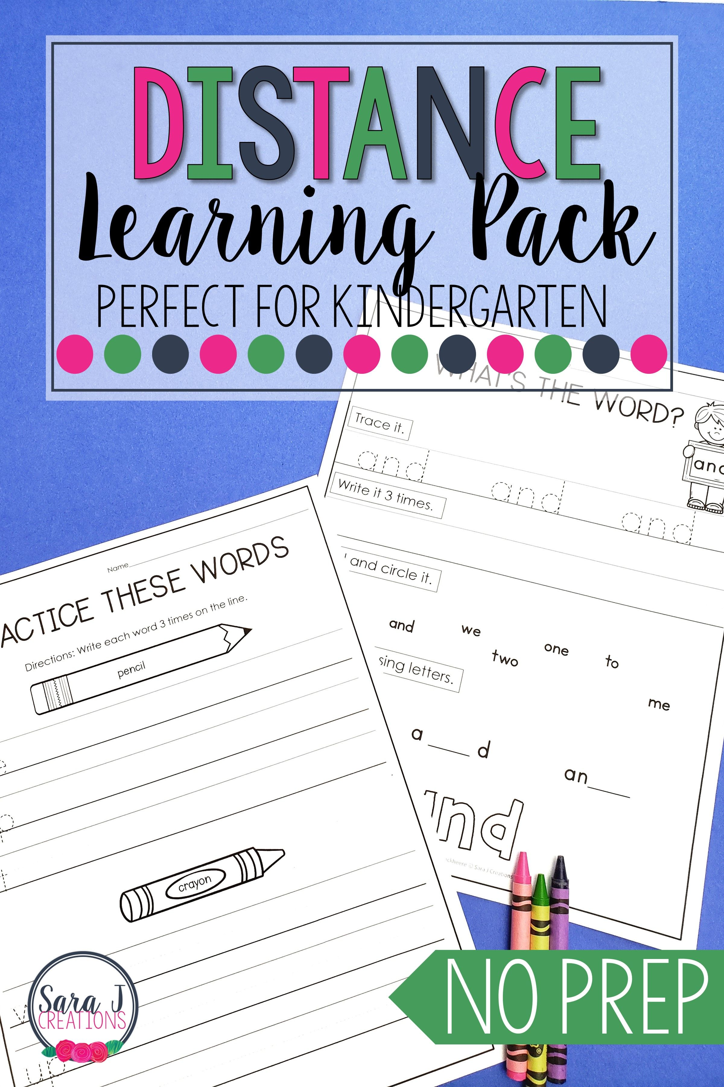 Distance Learning For Kindergarten Distance Learning Literacy Worksheets Printable Packet [ 3600 x 2400 Pixel ]