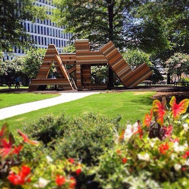 ATL in Woodruff Park in downtown Atlanta