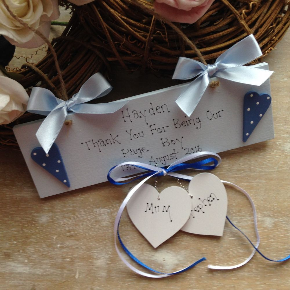 Details About Personalised Wedding Favour Page Boy