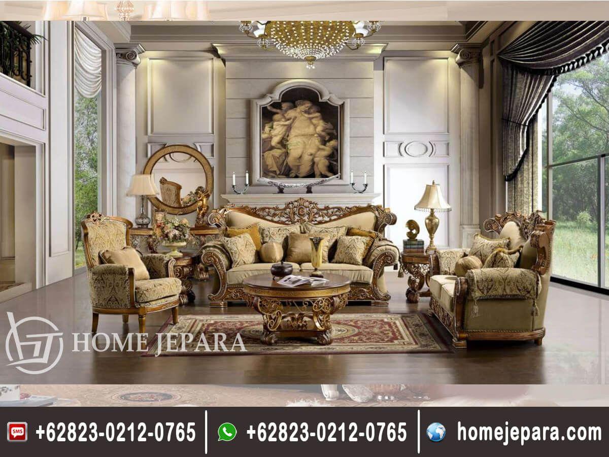 Set Sofa Tamu Ukiran Jepara Classic FO 0284 furniture