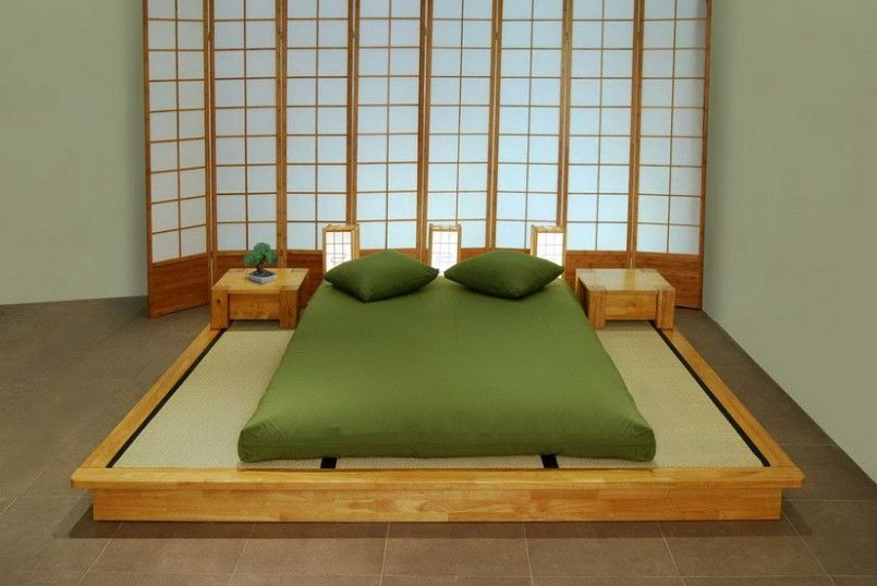 Simple And Elegant Japanese Beds Furniture Japanese Bedroom