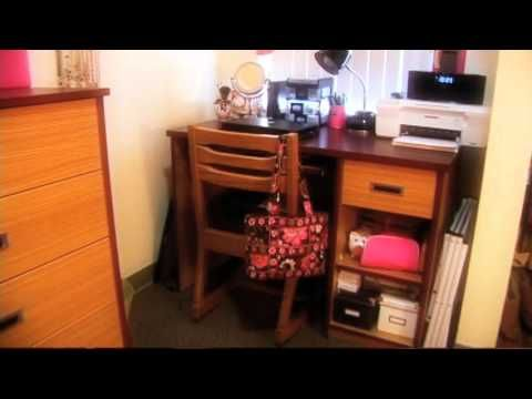Ucf Housing Tour Towers At Knights Plaza Furnishings Desk Desk Chair Dresser And Full Size Bed Ucf Dorm Dorm Shopping Ucf
