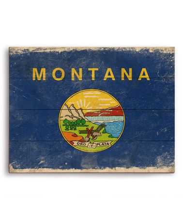 Another Great Find On Zulily Montana State Flag Wall Art Zulilyfinds Country Wall Art Framed Flag Wall Art