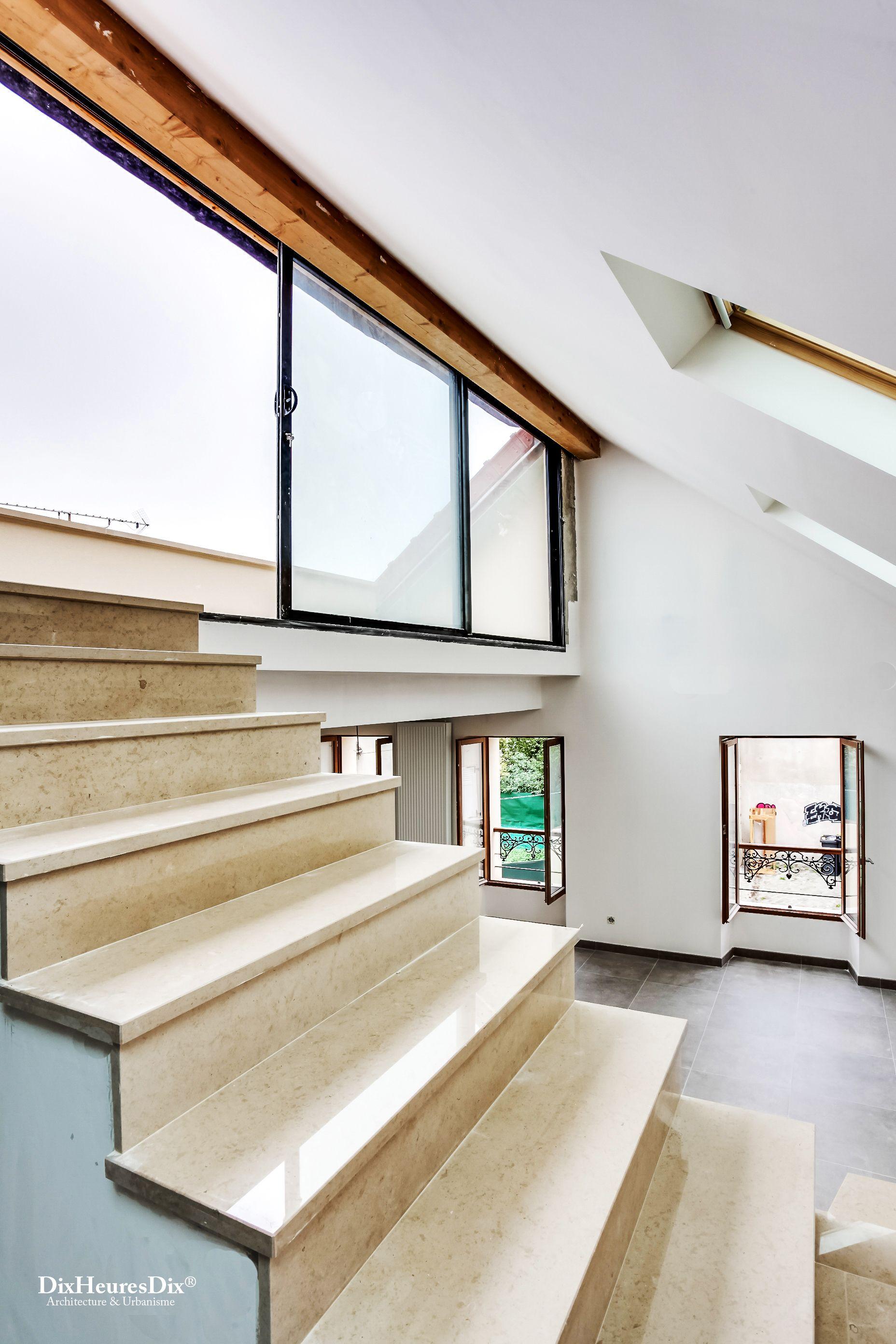 Escalier Dans Maison Ancienne réalisation - terrasse, dalle, escalier, marbre, ancienne