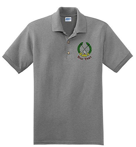 8daebeb1 Personalized custom embroidered golf crest on polo shirt mens xxlarge sport  grey * Read more at the image link.
